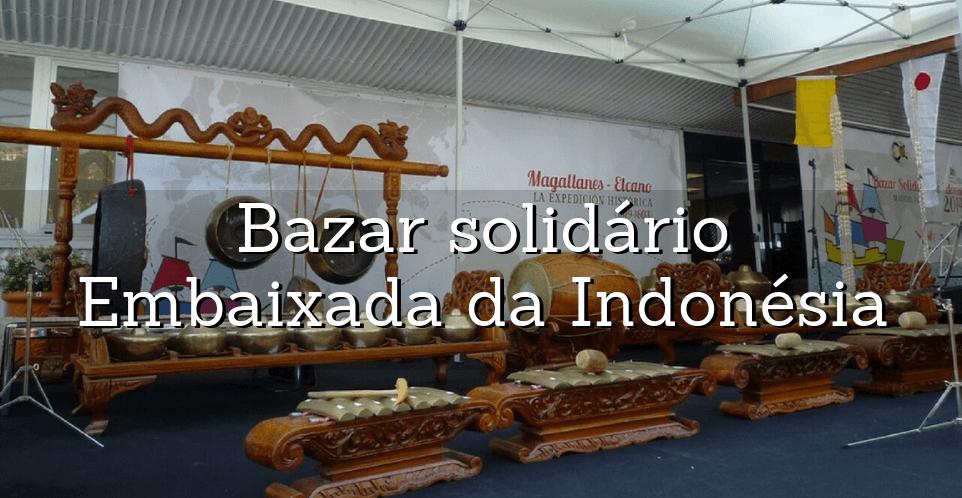 gamelan no bazar solidario da embaixada da indonesia