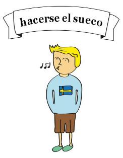 fingir que é sueco
