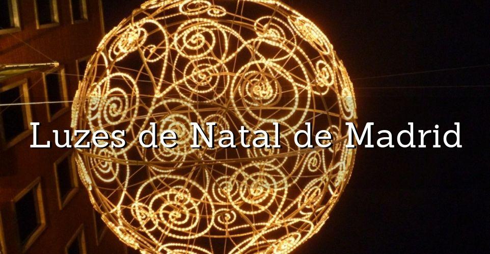 luzes de natal em madrid