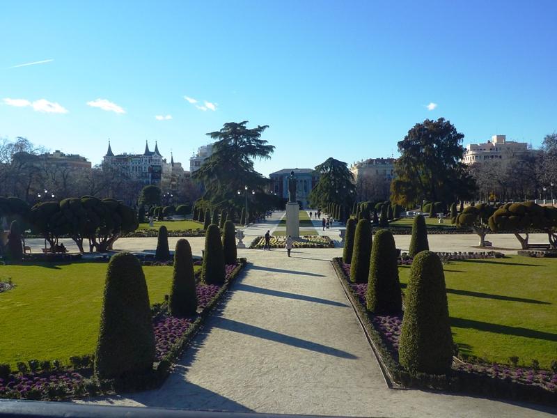 desbravando madrid turismo retiro parterre