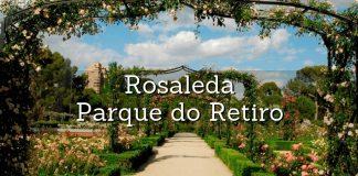 pergola principal da rosaleda do retiro