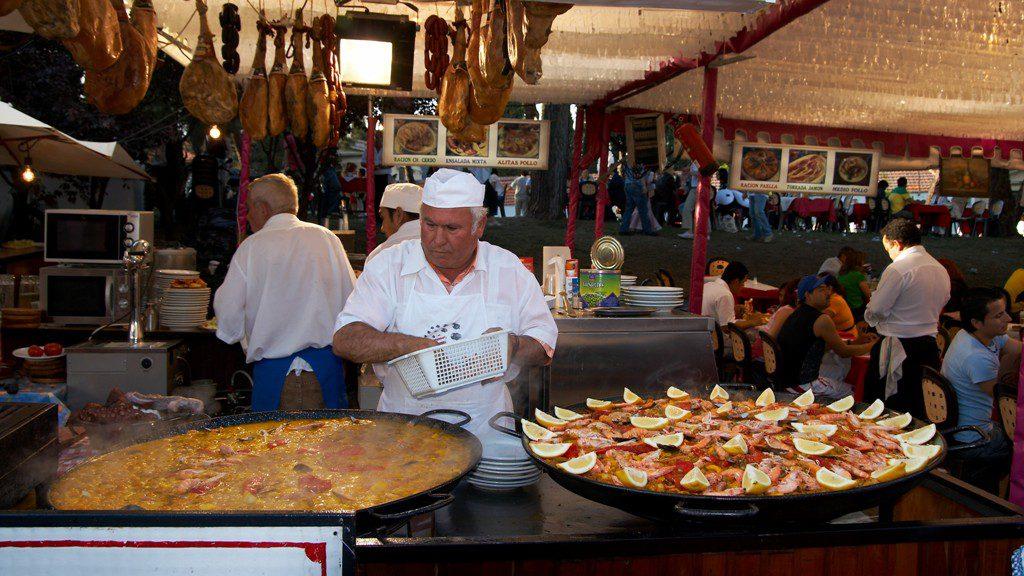paella, festas de san isidro