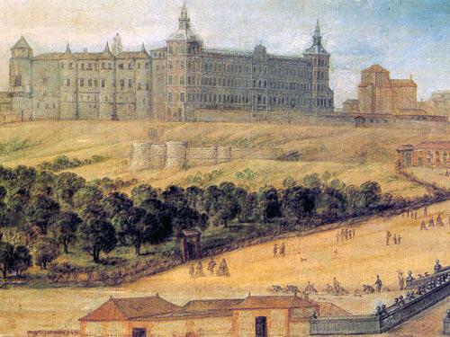 Pintura do século XVII, o Alcázar de Madrid