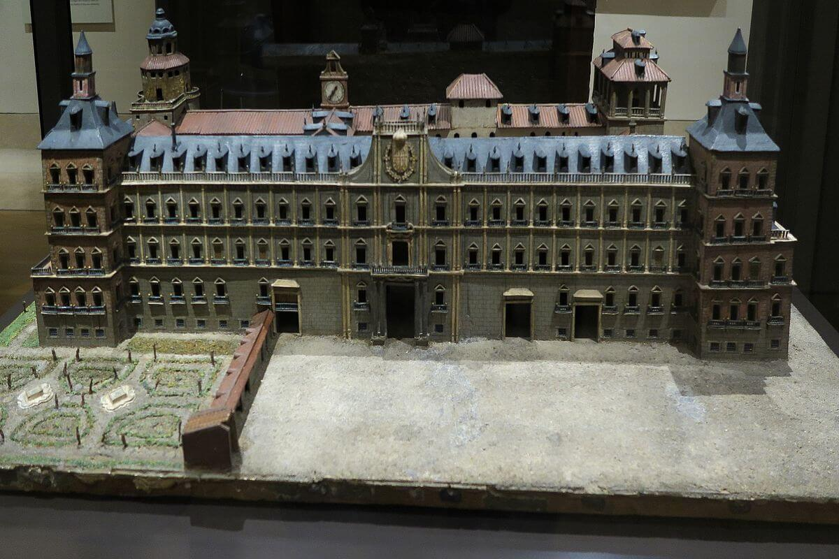 Maqueta do Alcázar de Madrid no Museu de História de Madrid