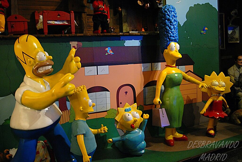 museu cera madrid simpsons