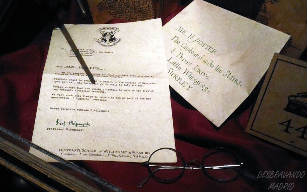 carta entrada hogwarts