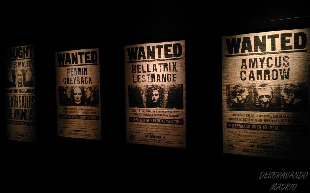 cartazes de procurados devoradores da morte