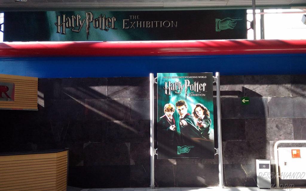 entrada da exposiçao do harry potter