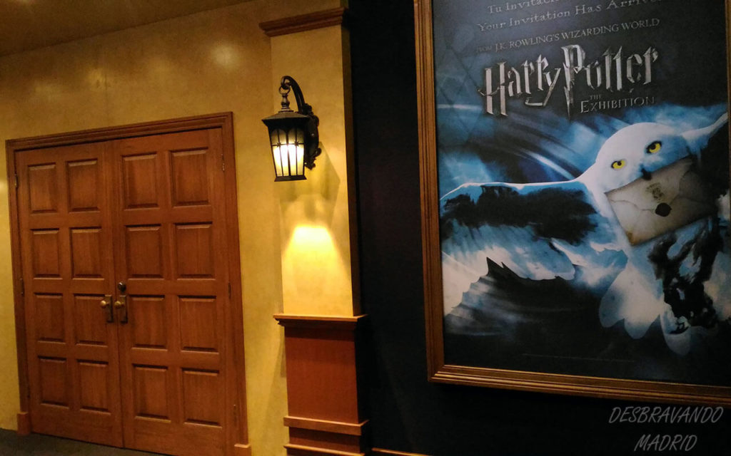 entrada para a exposição do harry potter