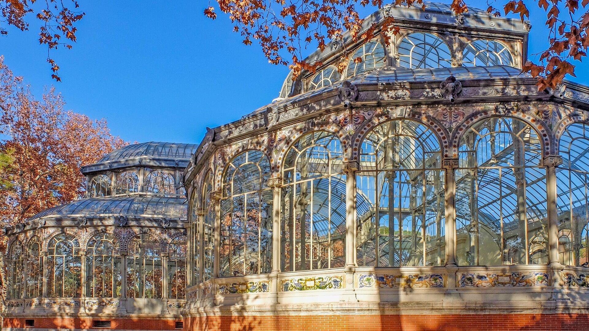 palacio de cristal no parque do retiro