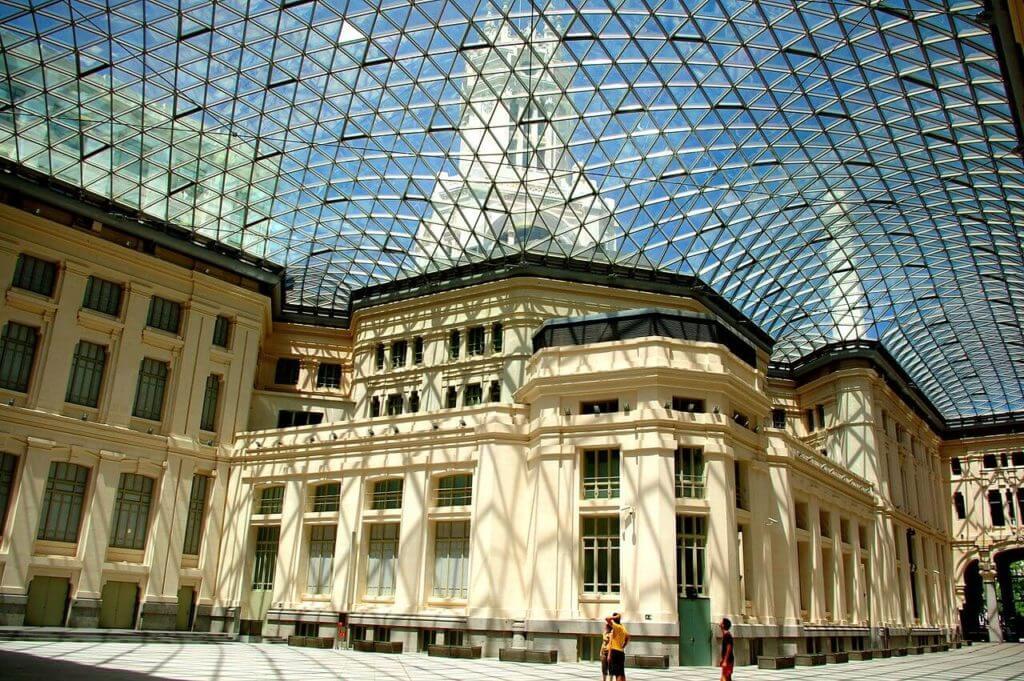 galeria de cristal do palacio de comunicaçoes