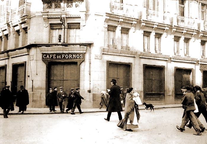 foto do cafe fornos em 1908